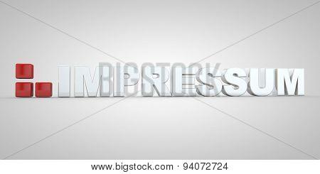German Impressum Imprint Text Letter Letters