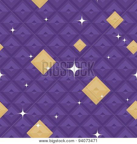 Purple Geometric Pattern with Stars