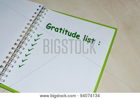Gratitude list on open agenda