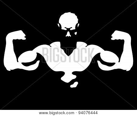 Man with muscles vector