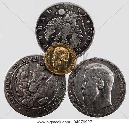 four coins