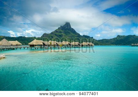 Luxury Thatched Roof Bungalow Resort On Bora Bora