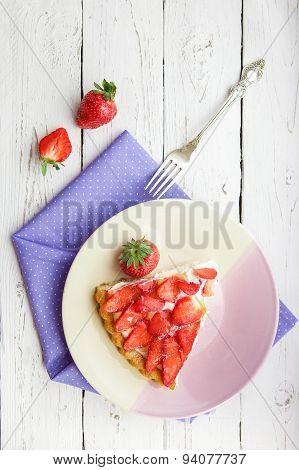 Piece Of Homemade Strawberry Pie