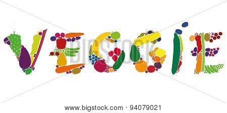Veggie Fruit Vegetables Word Letters