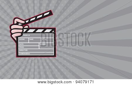 Business Card Clapperboard Clapper Front
