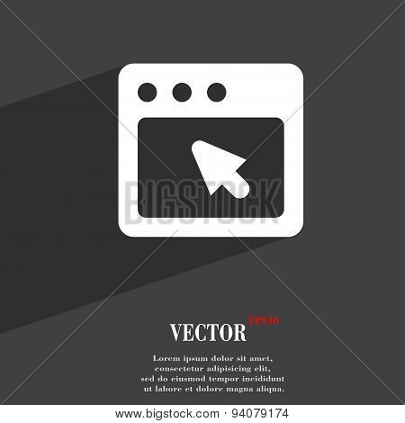 The Dialog Box Icon Symbol Flat Modern Web Design With Long Shadow And Space For Your Text. Vector