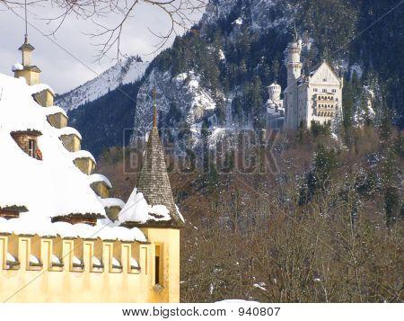 Castle Neuschwanstein, Seen From Castle Hohenschwangau