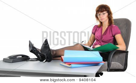 Businesswomen, Read Documents.