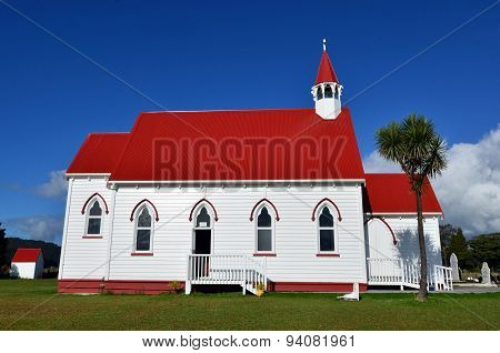 St Barnabas Anglican Church situated in Peria Valley in Northland New Zealand.