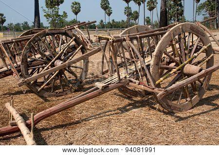 Wooden Ox Cart.