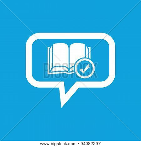 Selected book message icon