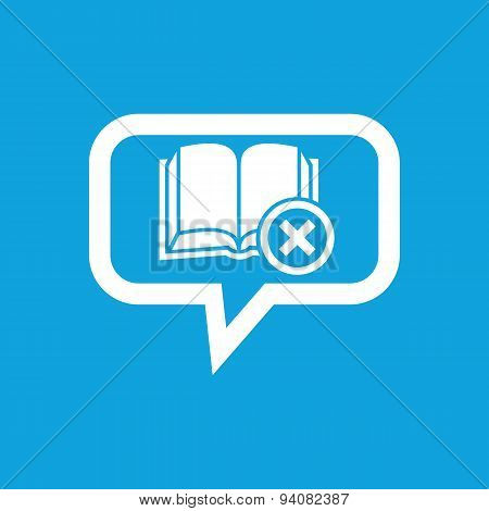 Remove book message icon
