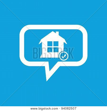 Selected house message icon