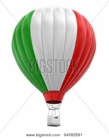 Hot Air Balloon with Italian Flag (clipping path included)