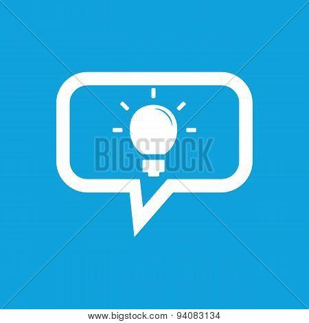 Light bulb message icon