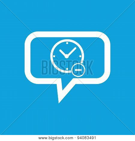Reduce time message icon