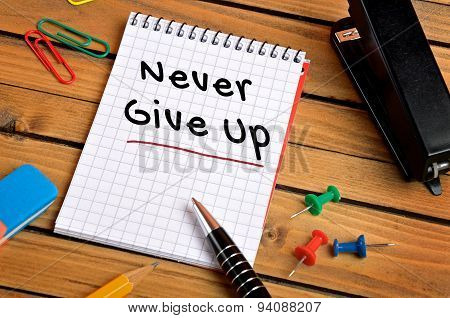 Never Give Up Word