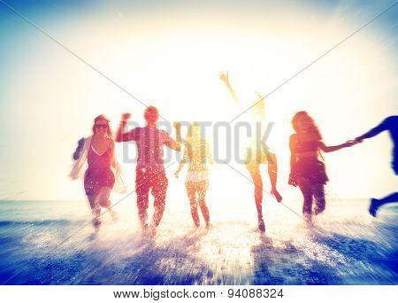 Friendship Beach Summer Splash Holiday Concept