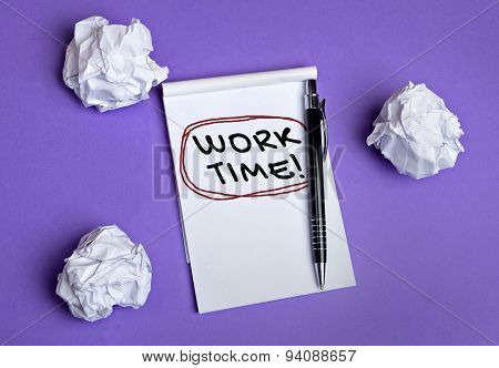 Work Time Word