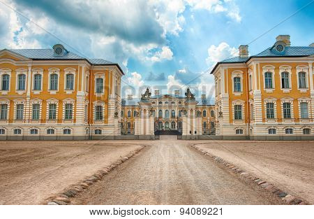 Main entrance to Rundale palace, former summer residence of Latvian nobility, Latvia