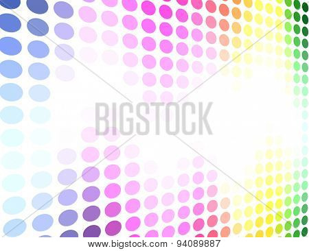 Spectrum colored circle pattern background.