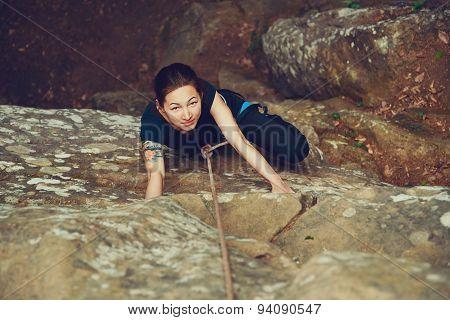 Girl Climbing Outdoor
