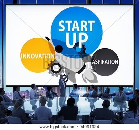 Start up Business Plan Innovation Aspiration  Concept