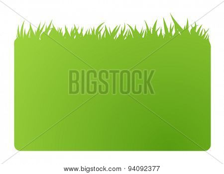 eco green banner business card. Vector illustration. Isolated in white