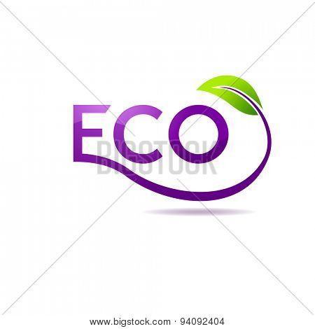 Green leaf vector logo design template. Garden logotype creative concept. Eco idea ecology icon
