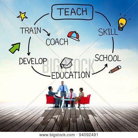 Teach Skill Education Coach Training Concept