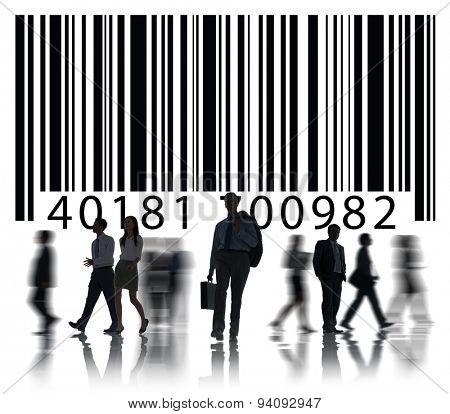Bar Code Identity  Badge Data Customer Concept
