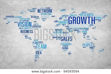 Global Business Communication Plan Strategy Success Growth Concept