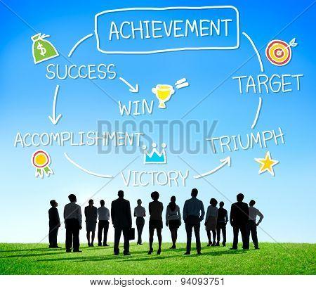 Achievement Target Accomplishment Goal Success Concept