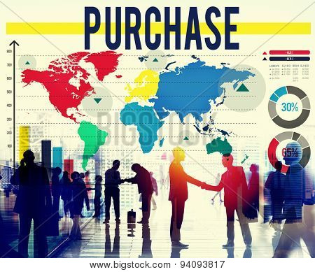 Purchase Buying Shopping Retail Sales Spending Concept