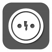 image of electric socket  - The Electrical Outlet icon - JPG