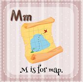 pic of letter m  - Flashcard letter M is for map - JPG