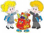 picture of schoolboys  - A schoolgirl - JPG