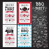 foto of bbq party  - Barbecue Party Invitation - JPG