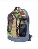 picture of camouflage  - Isolated Army Camouflage Backpack On White Background - JPG