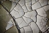 image of drought  - Cracked earth from the intense heat - JPG