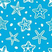 pic of starfish  - Sea seamless pattern with starfish - JPG
