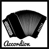 pic of accordion  - Isolated silhouette of an accordion - JPG