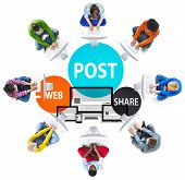 pic of announcement  - Post Web Share Announce Reminder List Remember Concept - JPG