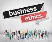 stock photo of honesty  - Business Ethics Integrity Honesty Trust Concept - JPG