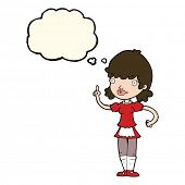 picture of maids  - cartoon maid with thought bubble - JPG