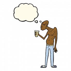 picture of hooligan  - cartoon hooligan with thought bubble - JPG