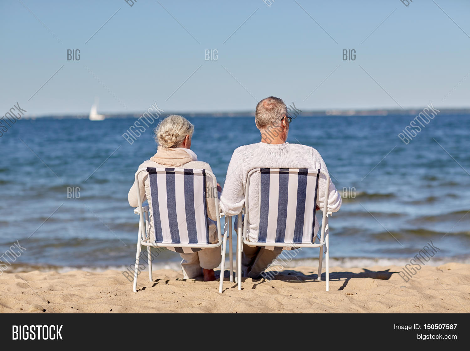 Family Old Age Travel Tourism And People Concept Hy Senior Sitting