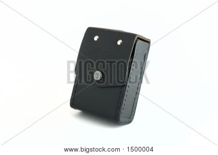 Case From The Black Leather With The Press-Button.