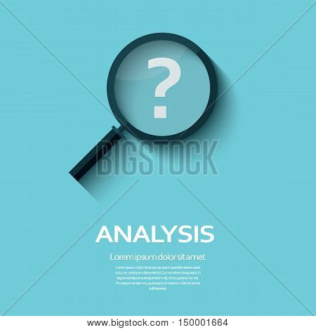 Business Analysis symbol with question mark icon. Long shadow flat design. Eps10 vector illustration.