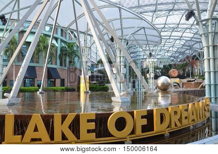 Sentosa Island Singapore. Lake Of Dreams